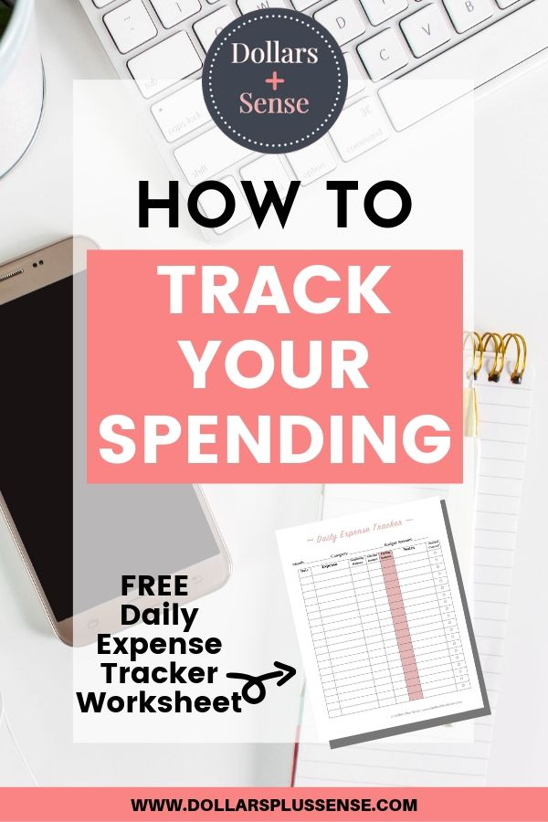 how to track your monthly spending pin