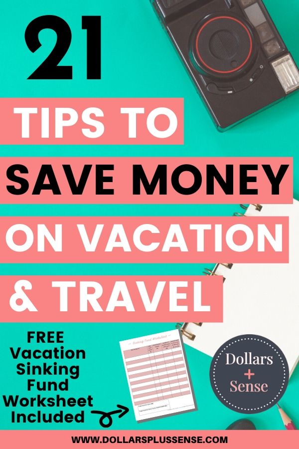 save money on vacation pin