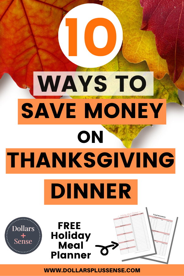 save money on thanksgiving dinner pin