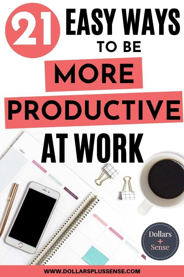How to be more productive at work pin