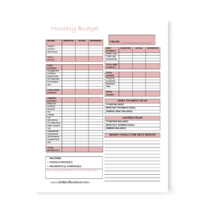 photo relating to Printable Budget Binder known as Get Take care of of Your Fiscal With This No cost Printable Finances