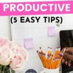 Ways to be more productive pin