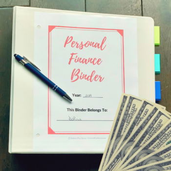 Create A personal Finance Binder