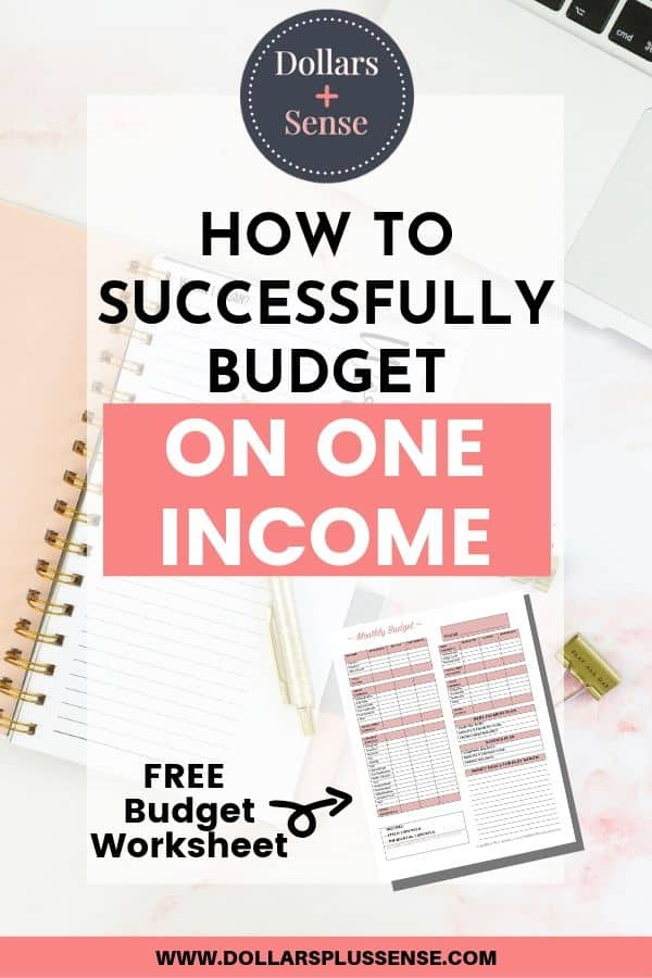 budget on one income pin