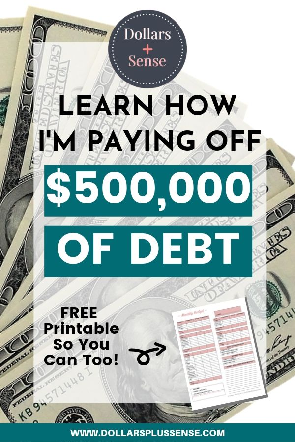 Pay off $500,000 of debt pin