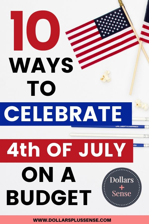 celebrate 4th of July on a budget pin