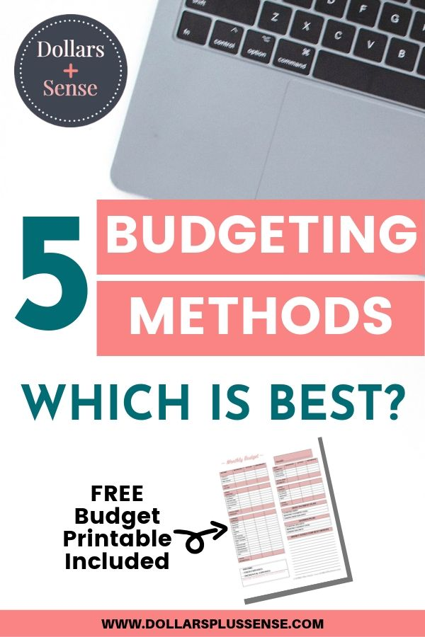 Choose The Right budgeting methods pin
