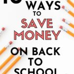 How to save money on back to school shopping pin