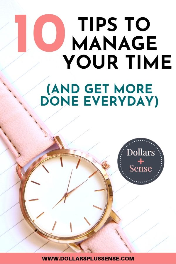 Improve your time management skills pin