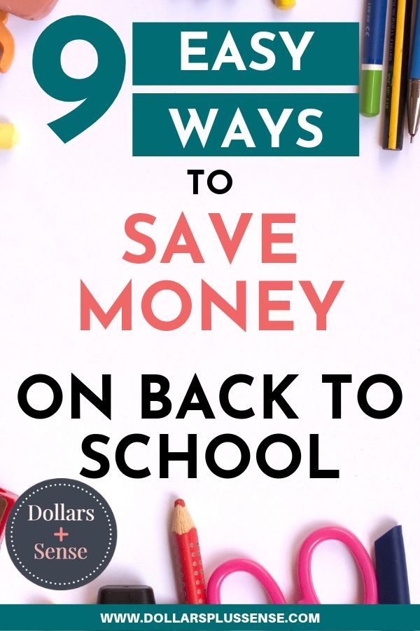 save money on back to school 2019 pin