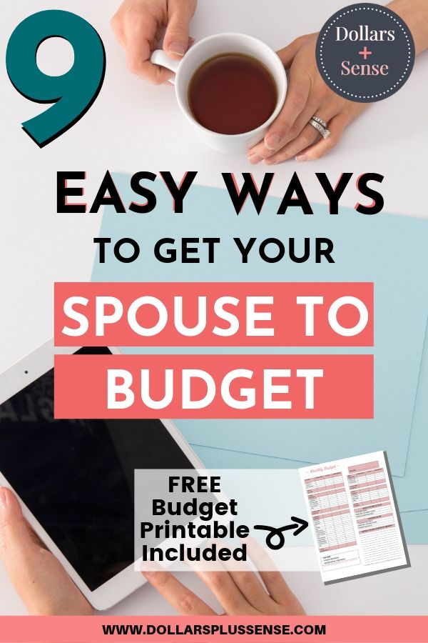 spouse on board with budgeting pin