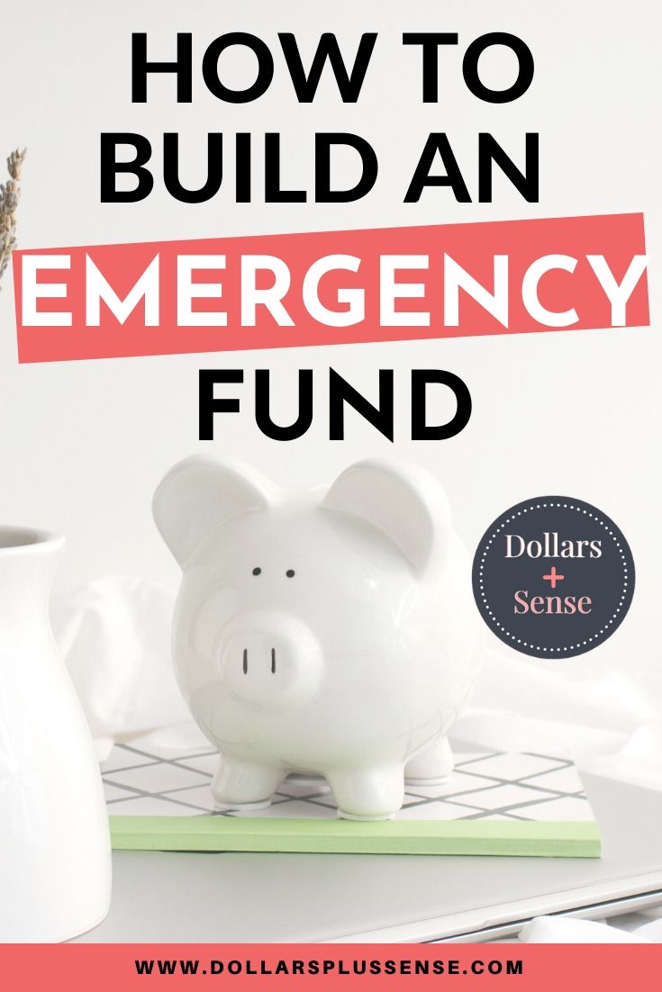 how to build an emergency fund pin