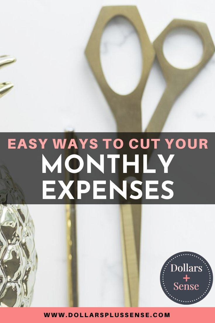 cutting your monthly expenses pin