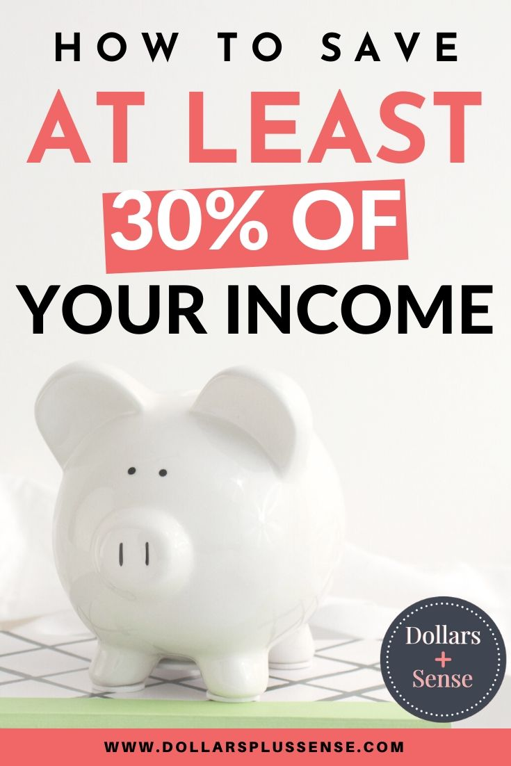 saving 30 percent of income pin
