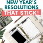 Financial New Year's Resolutions pin