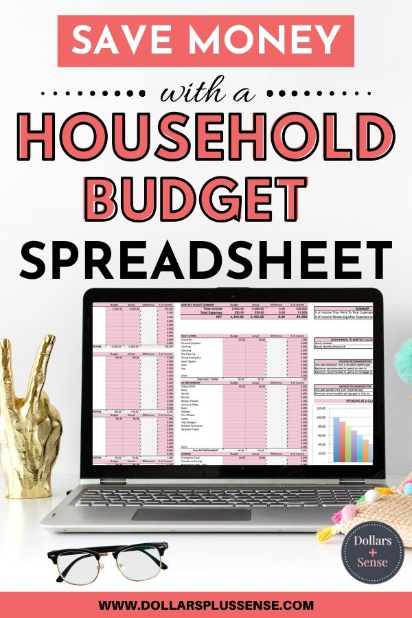 Budget spreadsheet pin