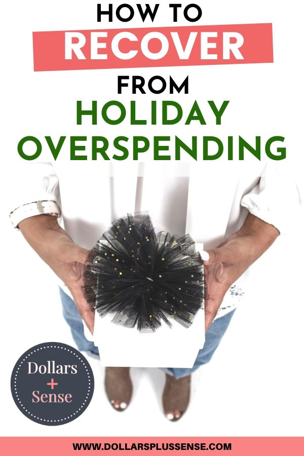 Recover from holiday overspending pin