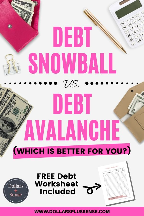 debt snowball vs. debt avalanche pin
