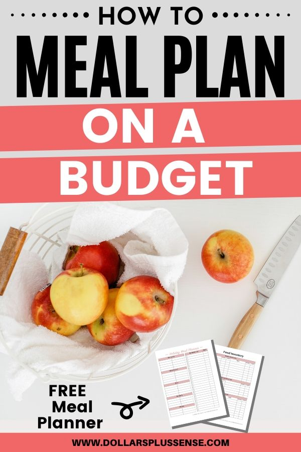 how to meal plan on a budget pin