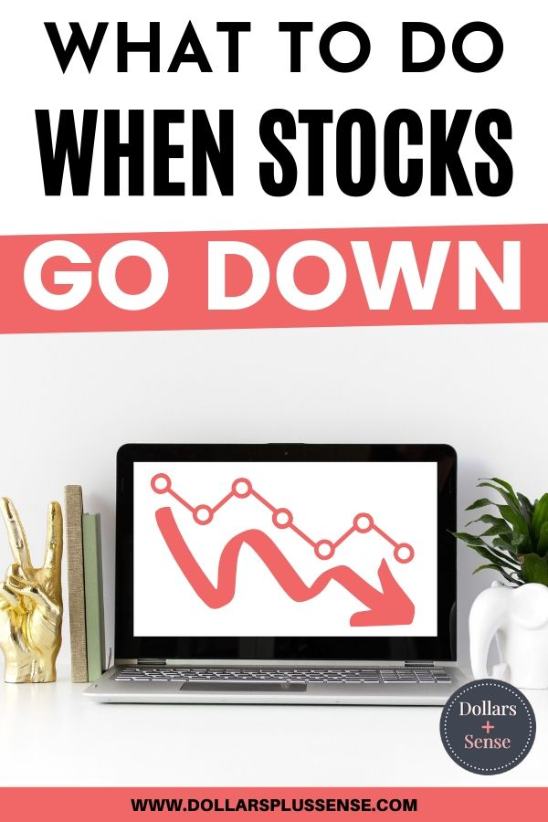 what to do when stock go down pin