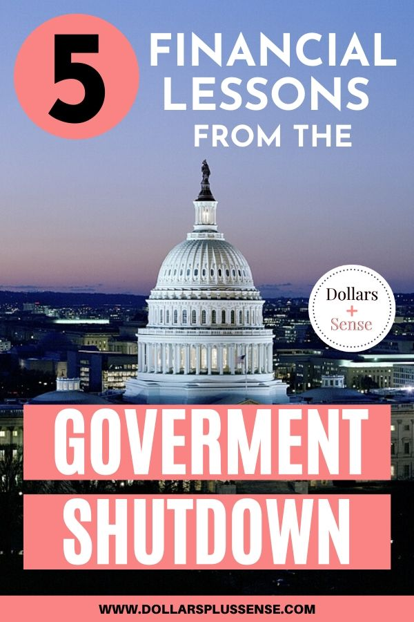 financial lessons from the government shutdown pin