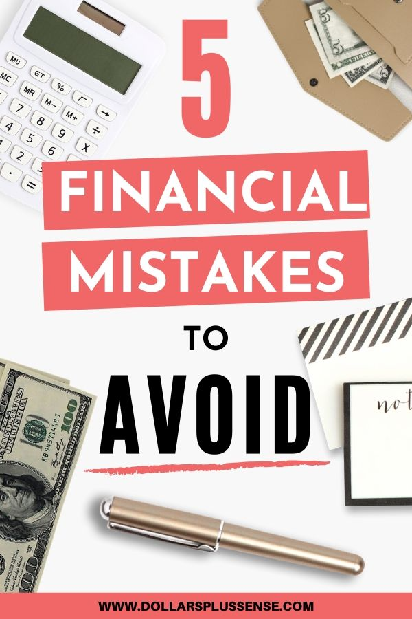 financial mistakes to avoid pin