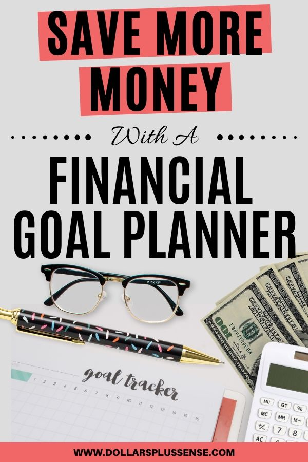 financial goal planner pin