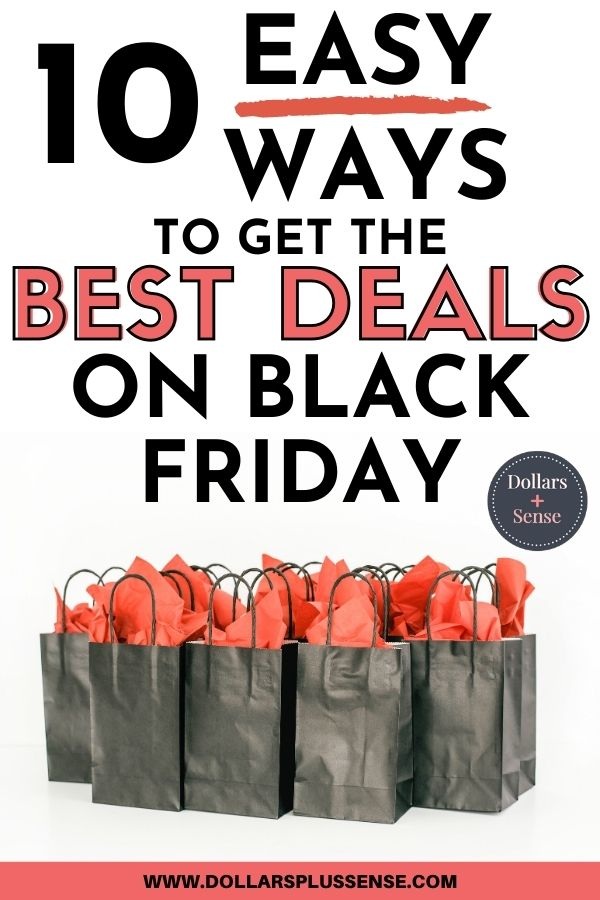 tips for black friday shopping pin