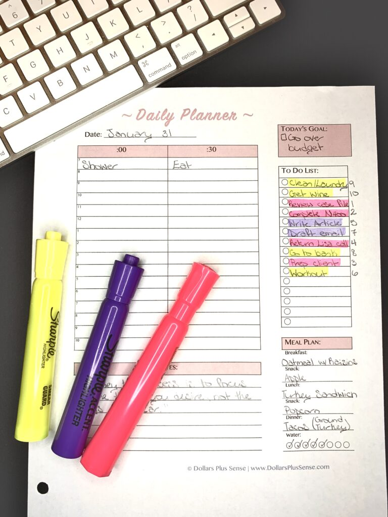 Ways to be more productive daily planner