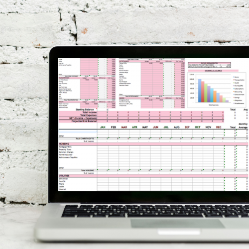 I will show you how I use my excel budget spreadsheet. Learn how to make a monthly household budget spreadsheet. Save money with my editable template. #DaveRamsey